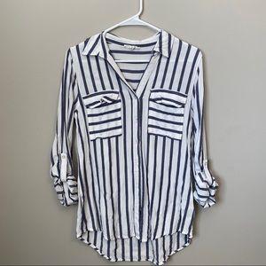 Women's Striped Button Down